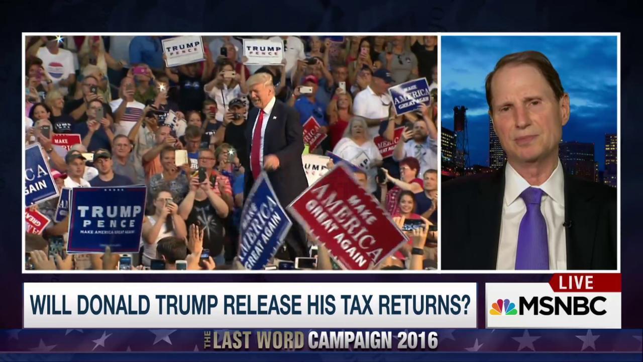 Senator to Trump: Release your tax returns