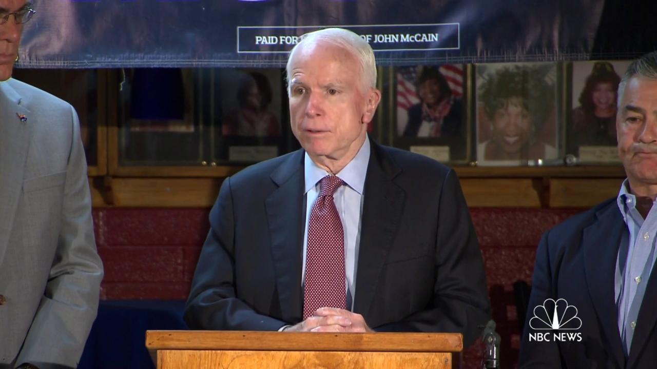 McCain: 'Obama national security failure'
