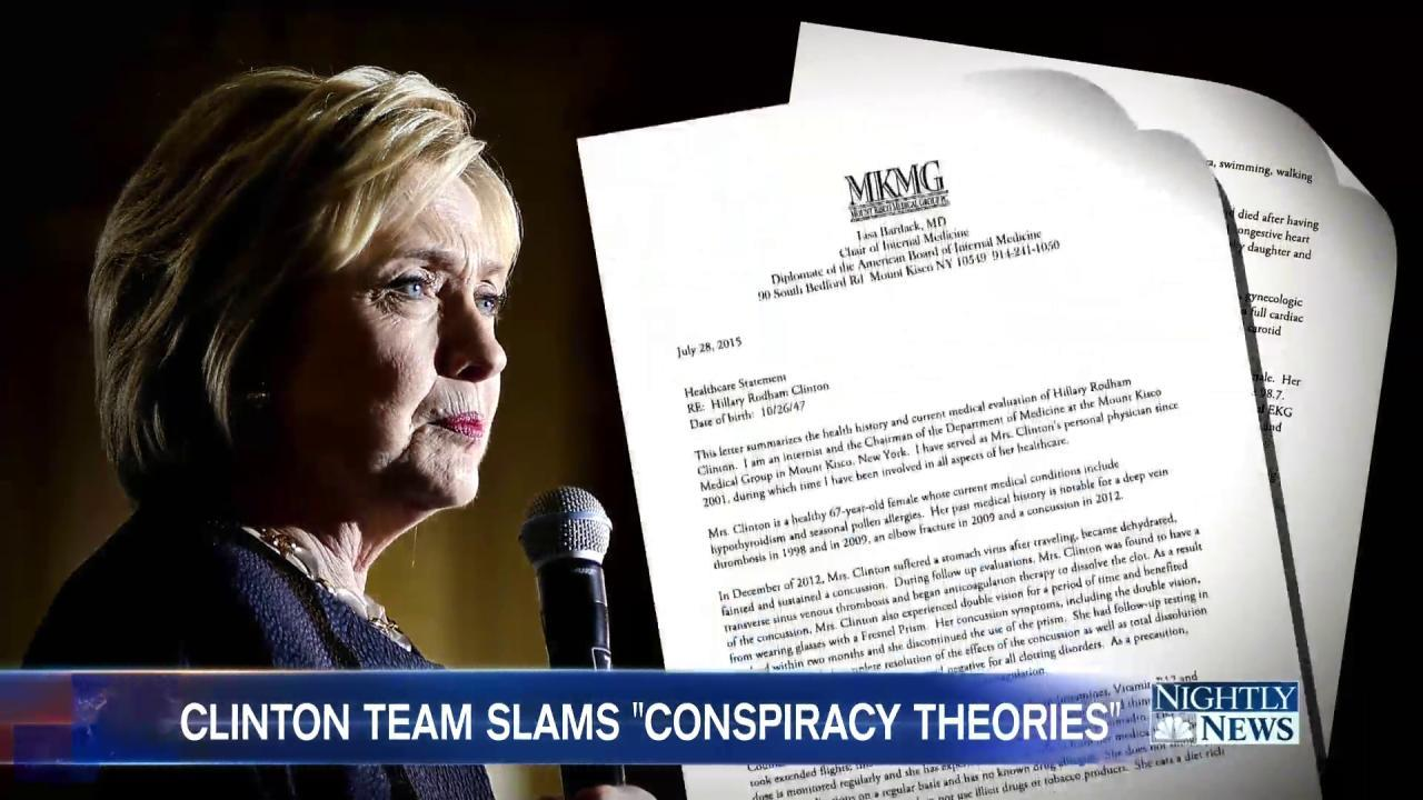 Clinton Responds to Deranged Conspiracy Theories About Her Health