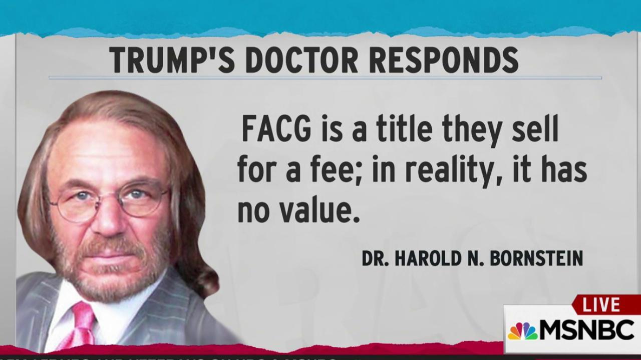 Trump doctor touts bogus credential