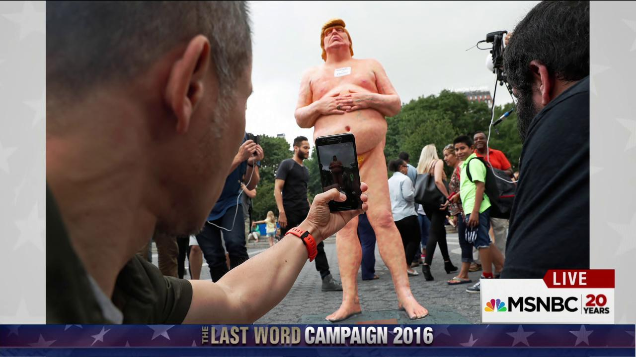 Five nude Trump statues erected nationwide