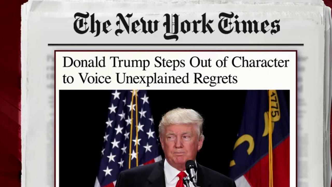 Trump's tone calls into question authenticity