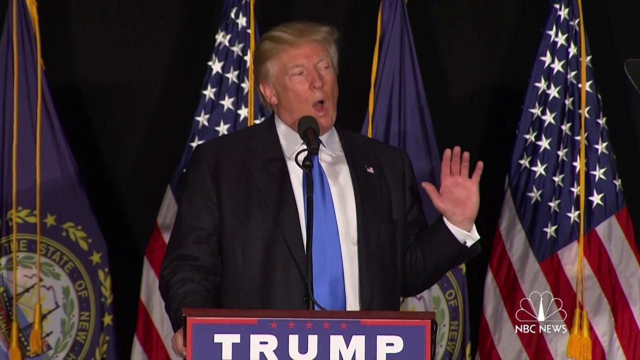 Trump likens Clinton email scandal to...