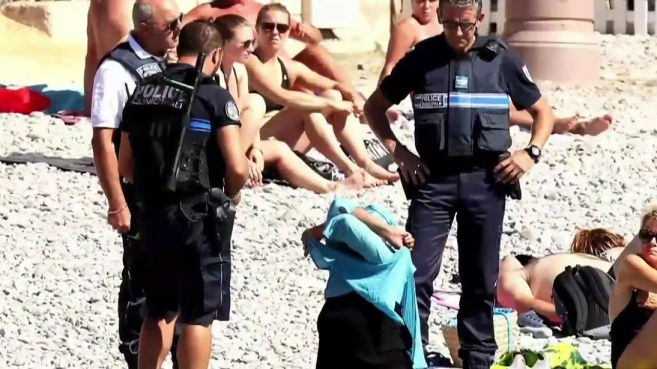 Police Forcing Woman to Disrobe Highlights Outrage Over Burkini Bans