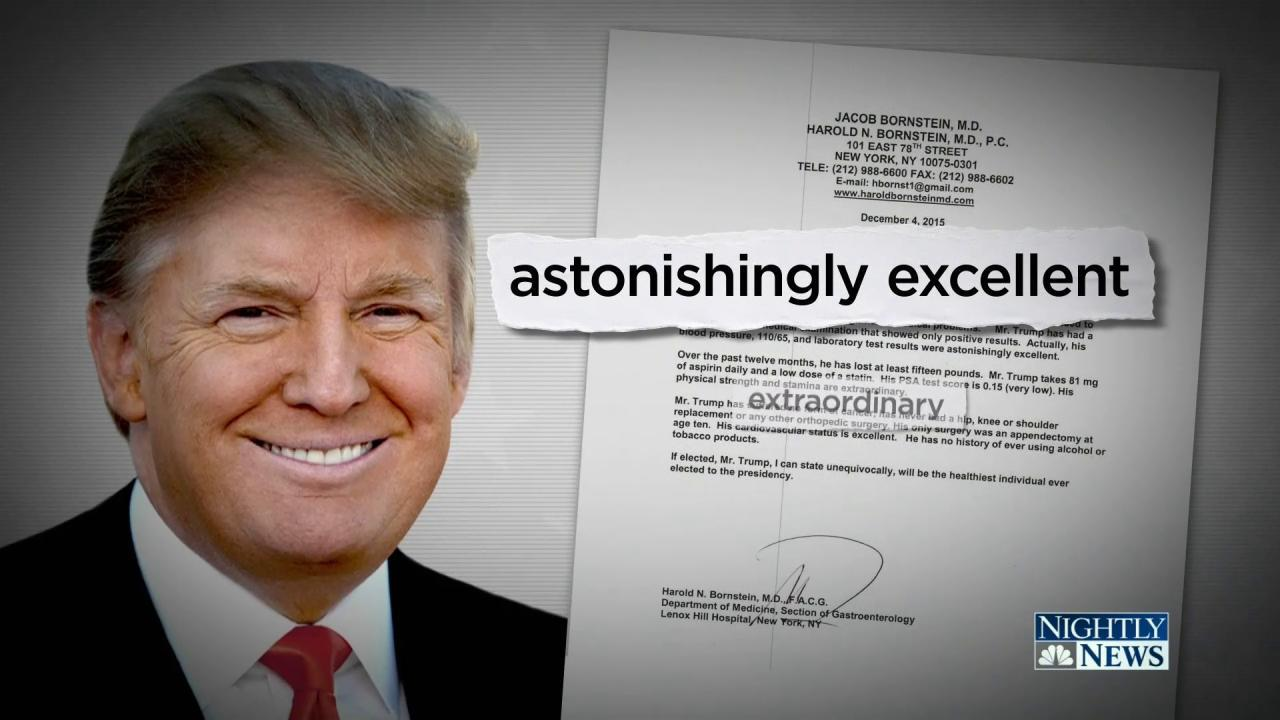 Doctor: Trumps Medical Letter Written in 5 Minutes