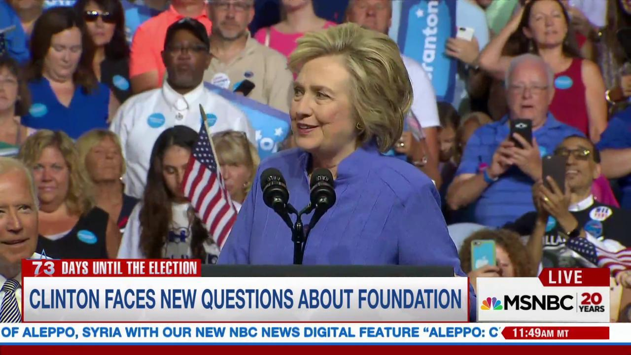 Donations to Clinton Foundation unethical