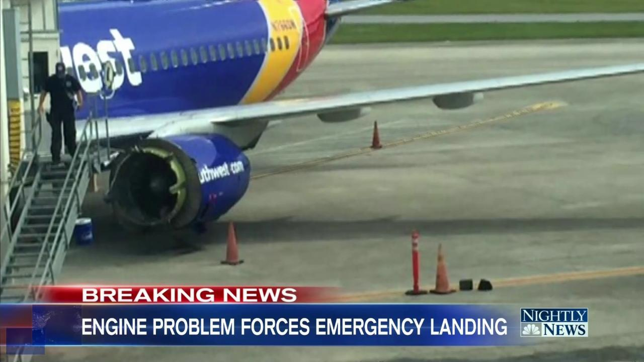 Southwest Flight Forced to Make Emergency Landing After Engine Malfunction