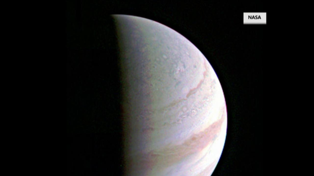Juno probe has closest fly-by yet of Jupiter, NASA photo reveals