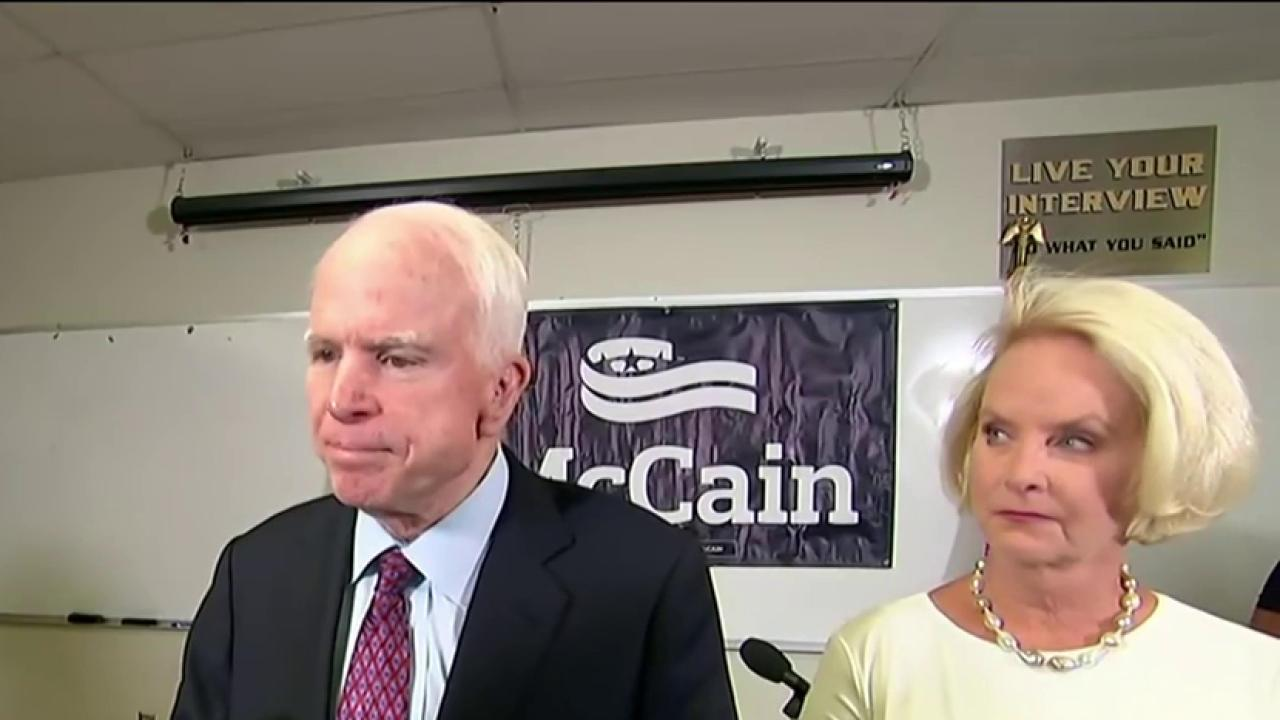 Where does McCain stand on Trump?