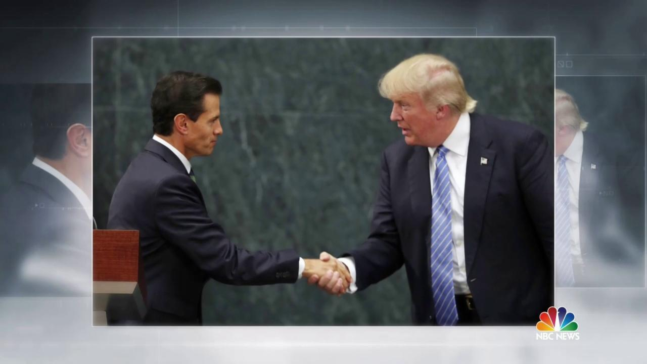 Trump Meets With Mexican President But Dispute Emerges Over Wall