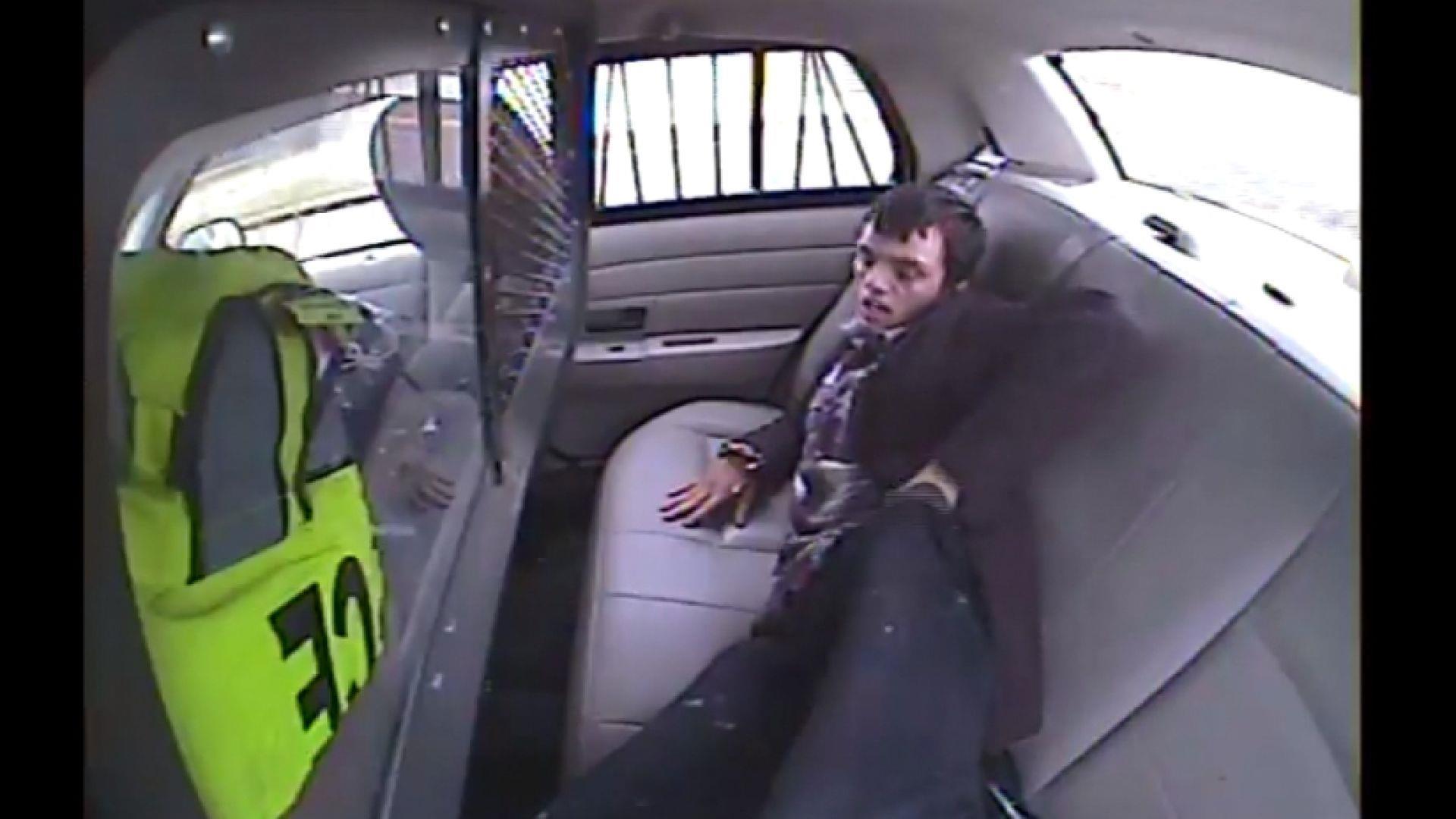 watch police car flips over with prisoner inside nbc news. Black Bedroom Furniture Sets. Home Design Ideas
