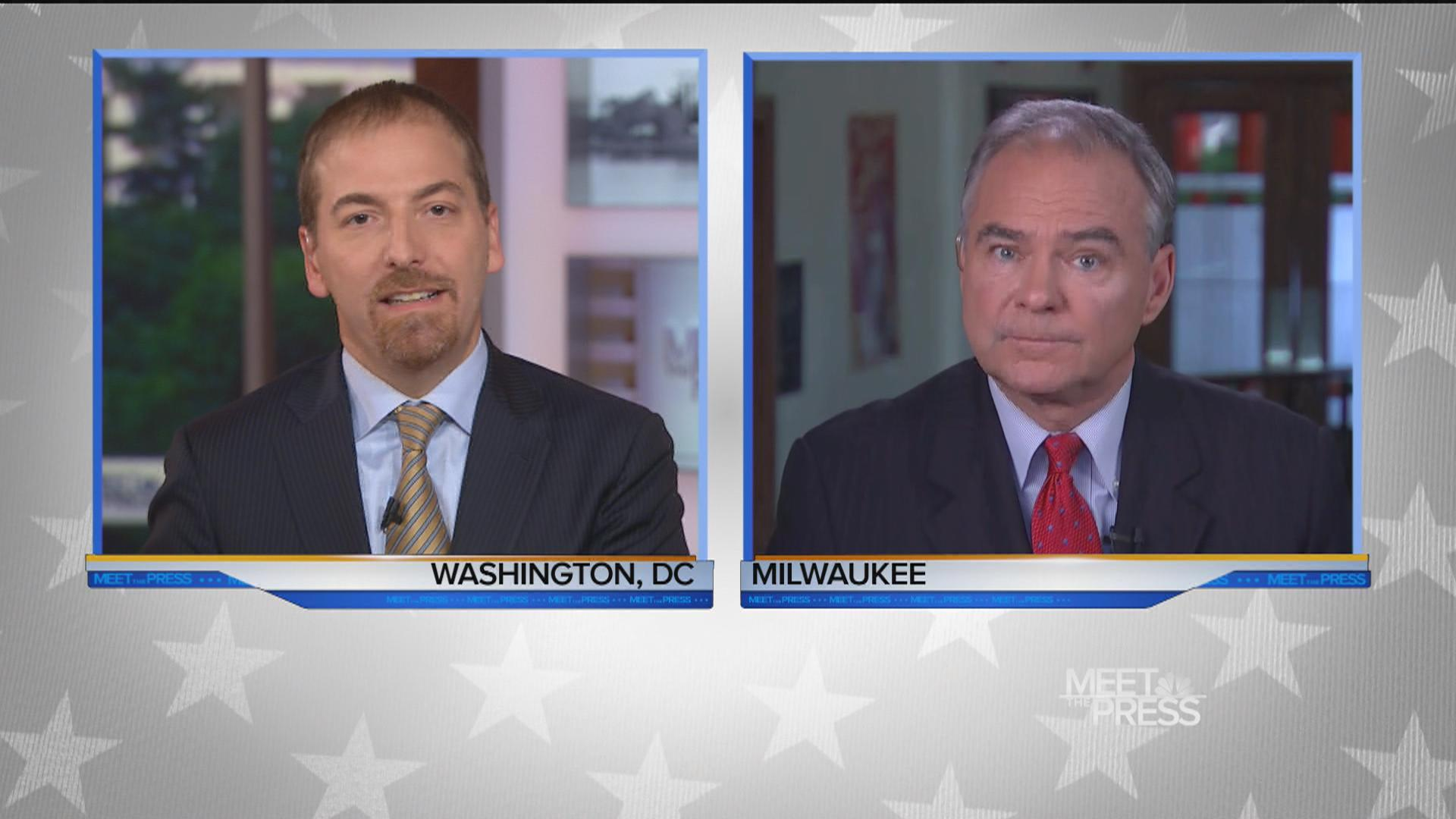 Full Interview: Kaine on Clinton's Trustworthiness and Decision 2016