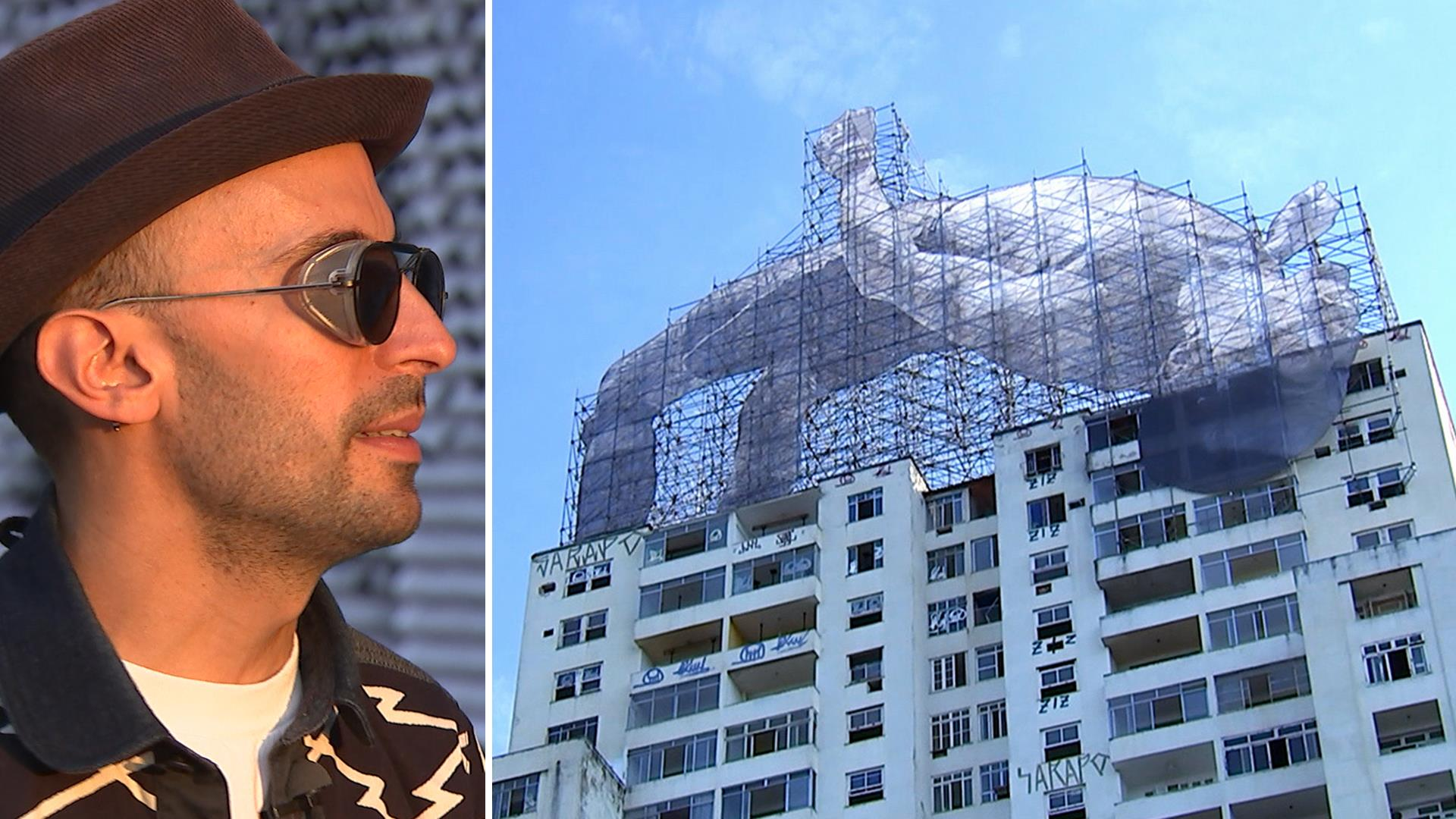 Meet JR, the semi-anonymous street artist behind Rios massive art project
