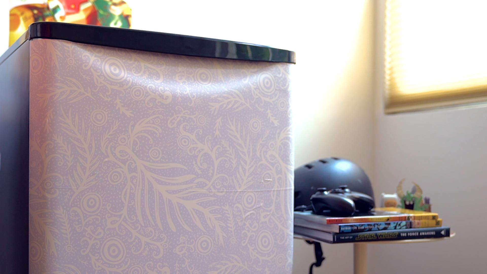 Compact Fridge For Dorm: Decorate Your Dorm Room Mini Fridge With Stick-on