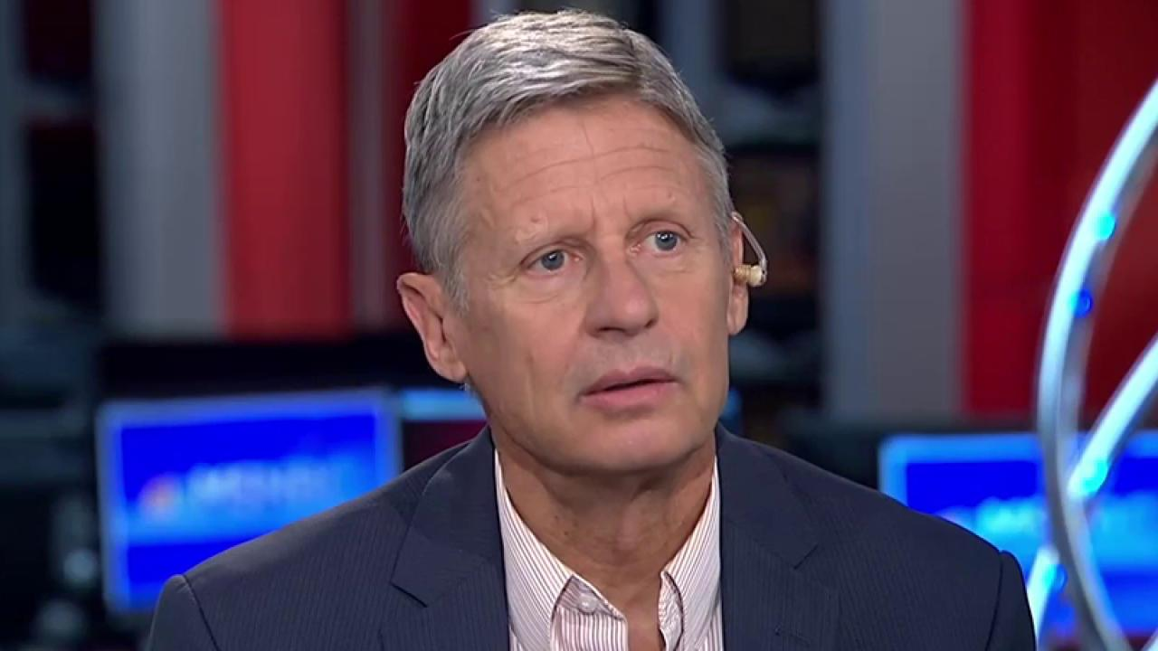 gary johnson asks what is aleppo