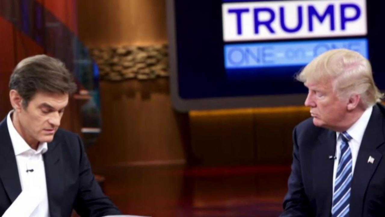 What health info did Trump share with Dr. Oz?