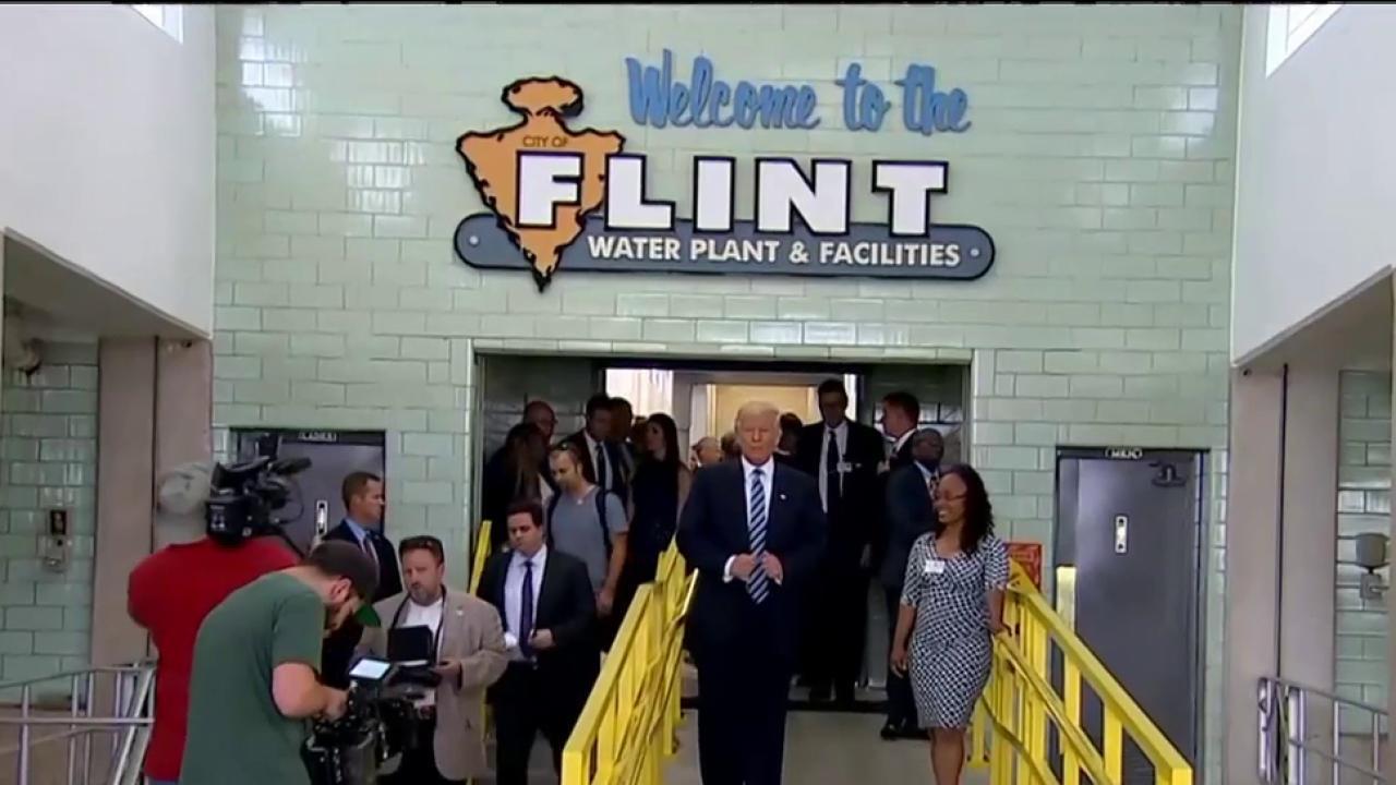 Trump visits Flint, Michigan