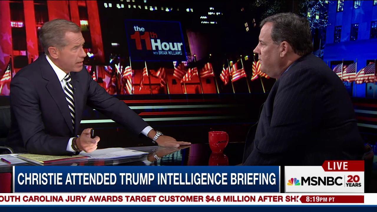 Christie discusses Trump intelligence...