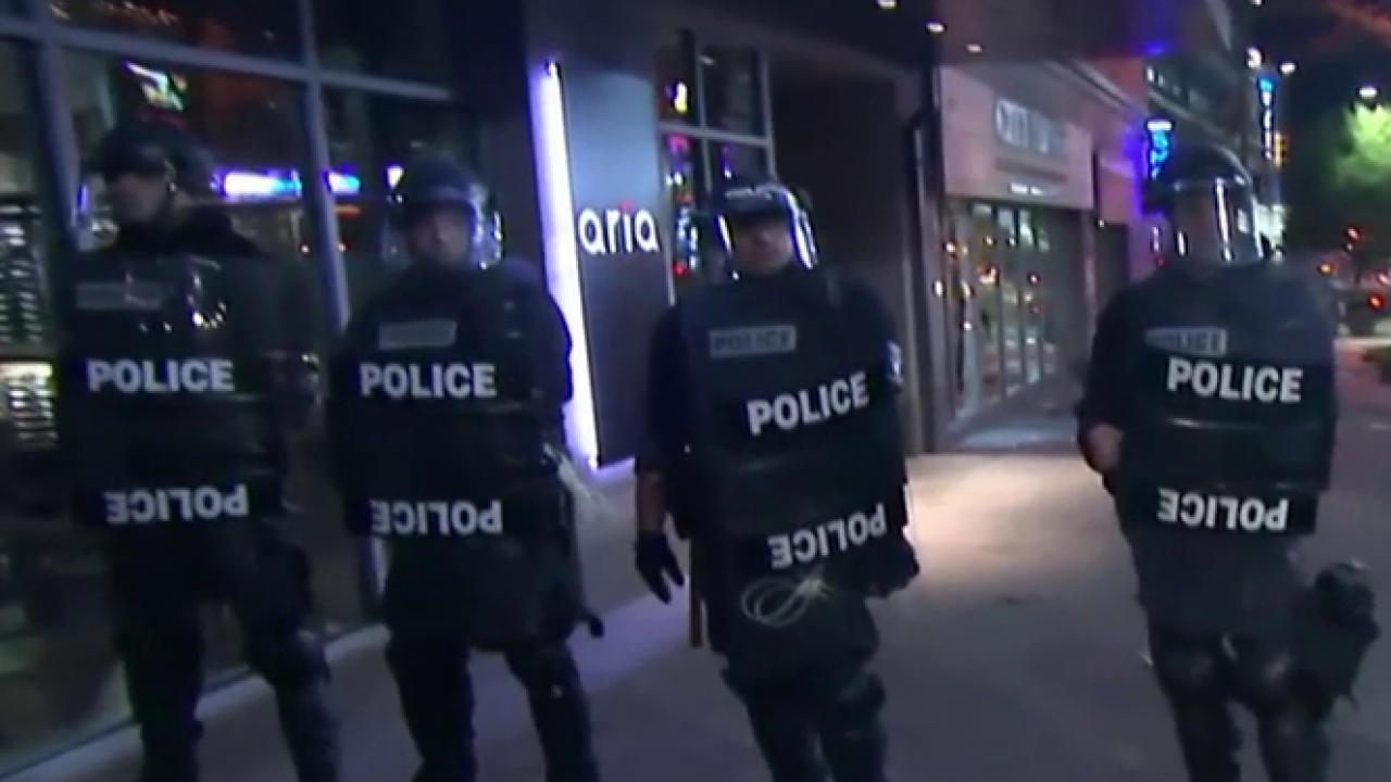 Protesters clash with police in Charlotte, NC