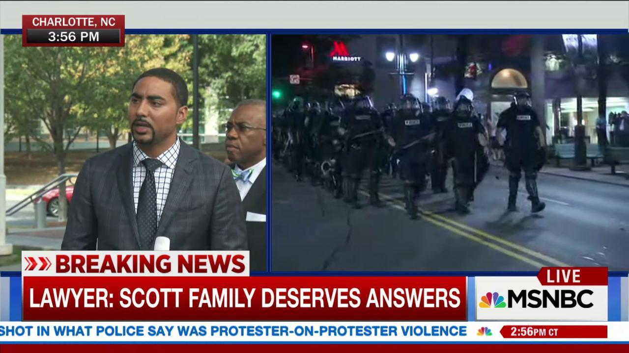 Lawyer: Family doesn't agree with rioting