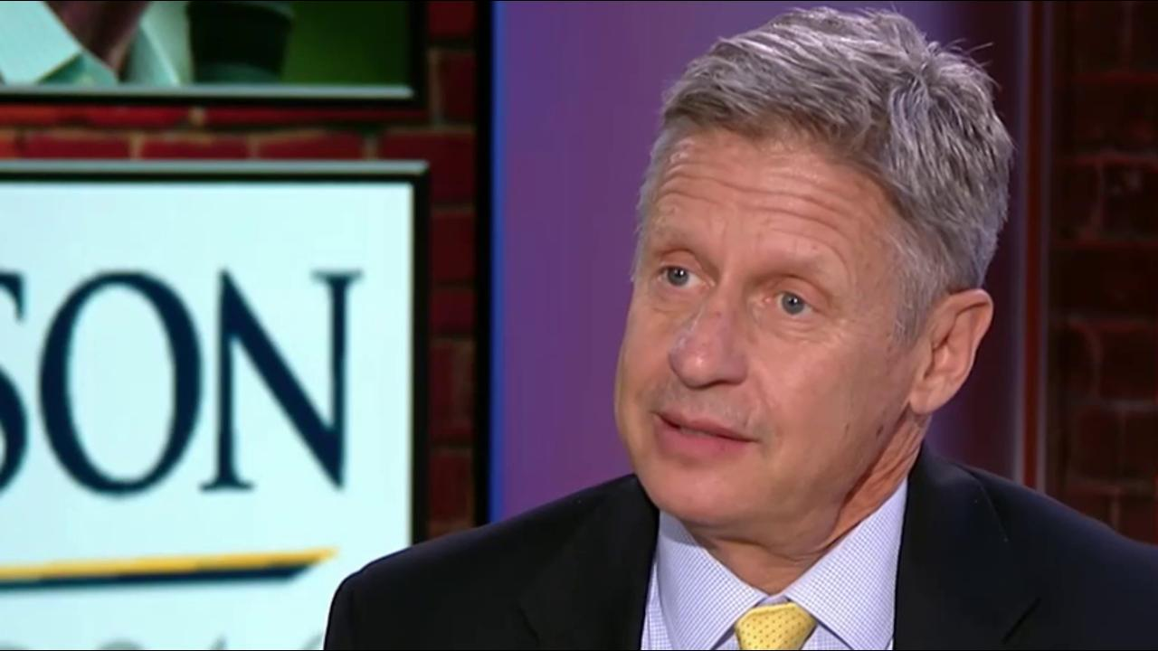 Gary Johnson on his role in the election