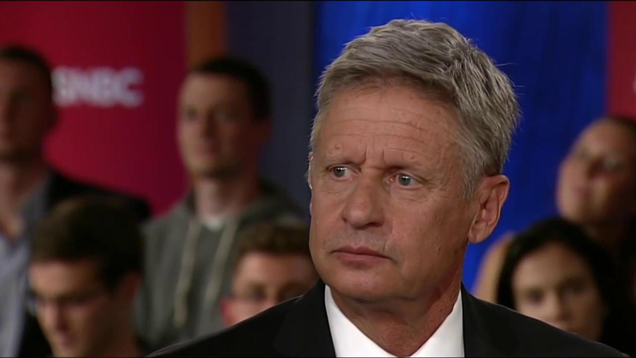 Gary Johnson: 'Why do they call it dope?'