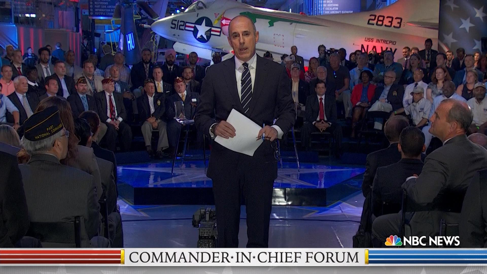 Watch Full Commander-In-Chief Forum