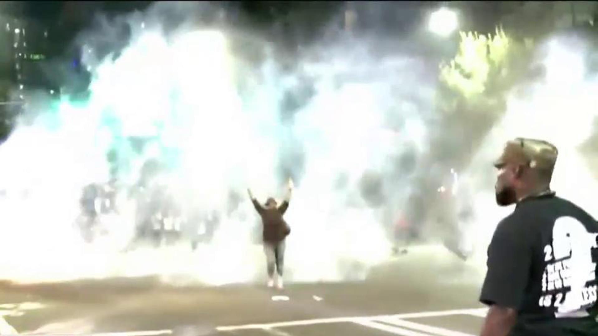 Tear gas, arrests at Charlotte protests