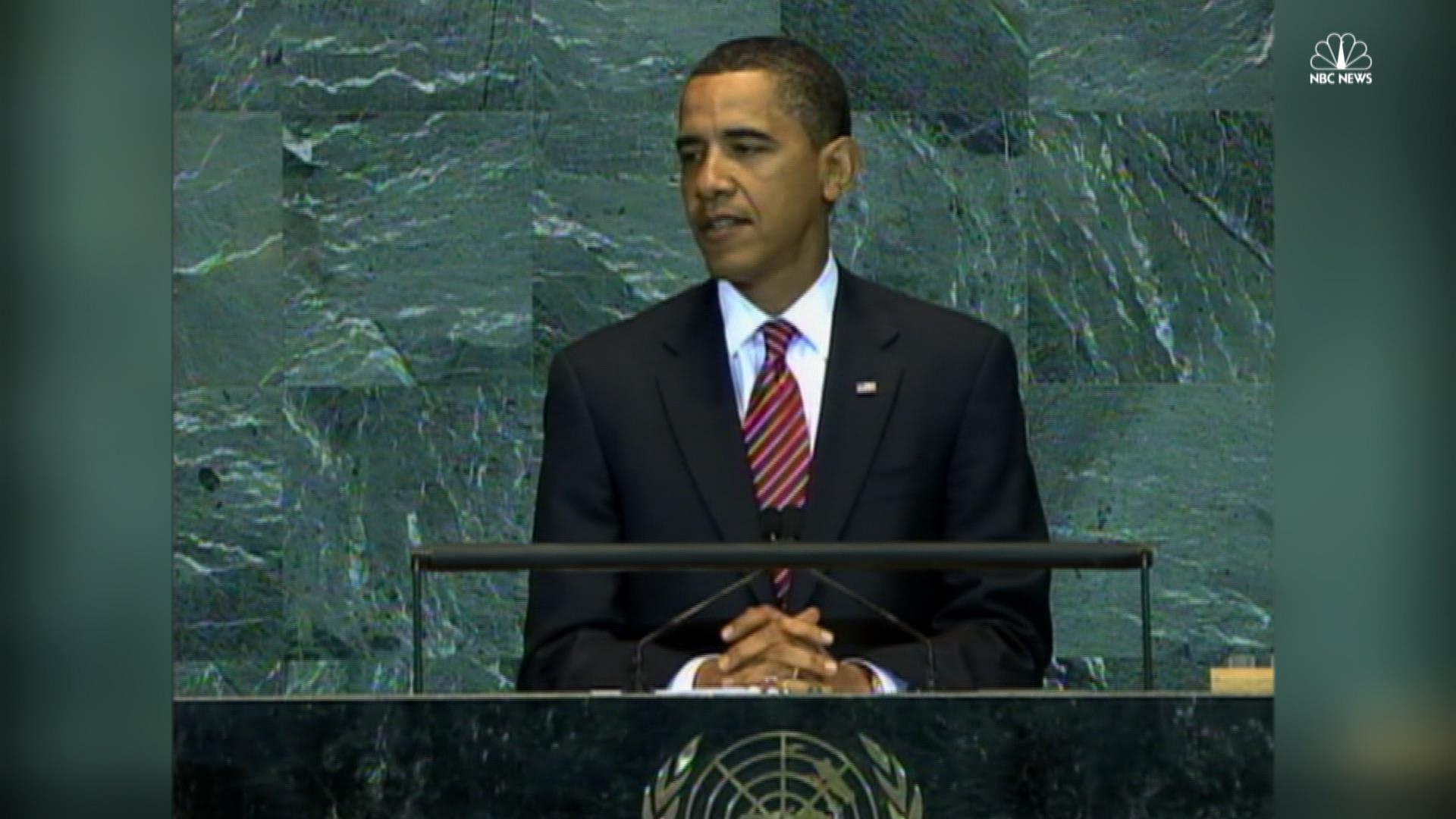 Watch Obama's first speech at UN