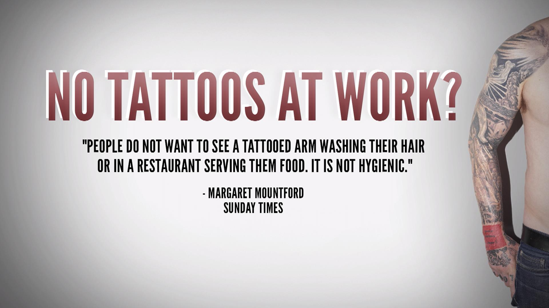 do tattoos help or hurt job applicants