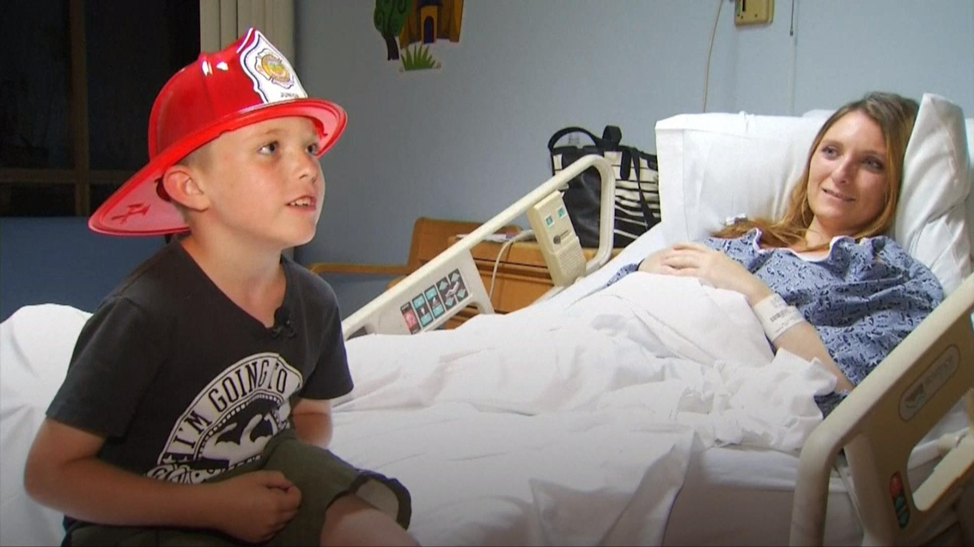 6 Year Old Boy Saves Pregnant Mom After Fall