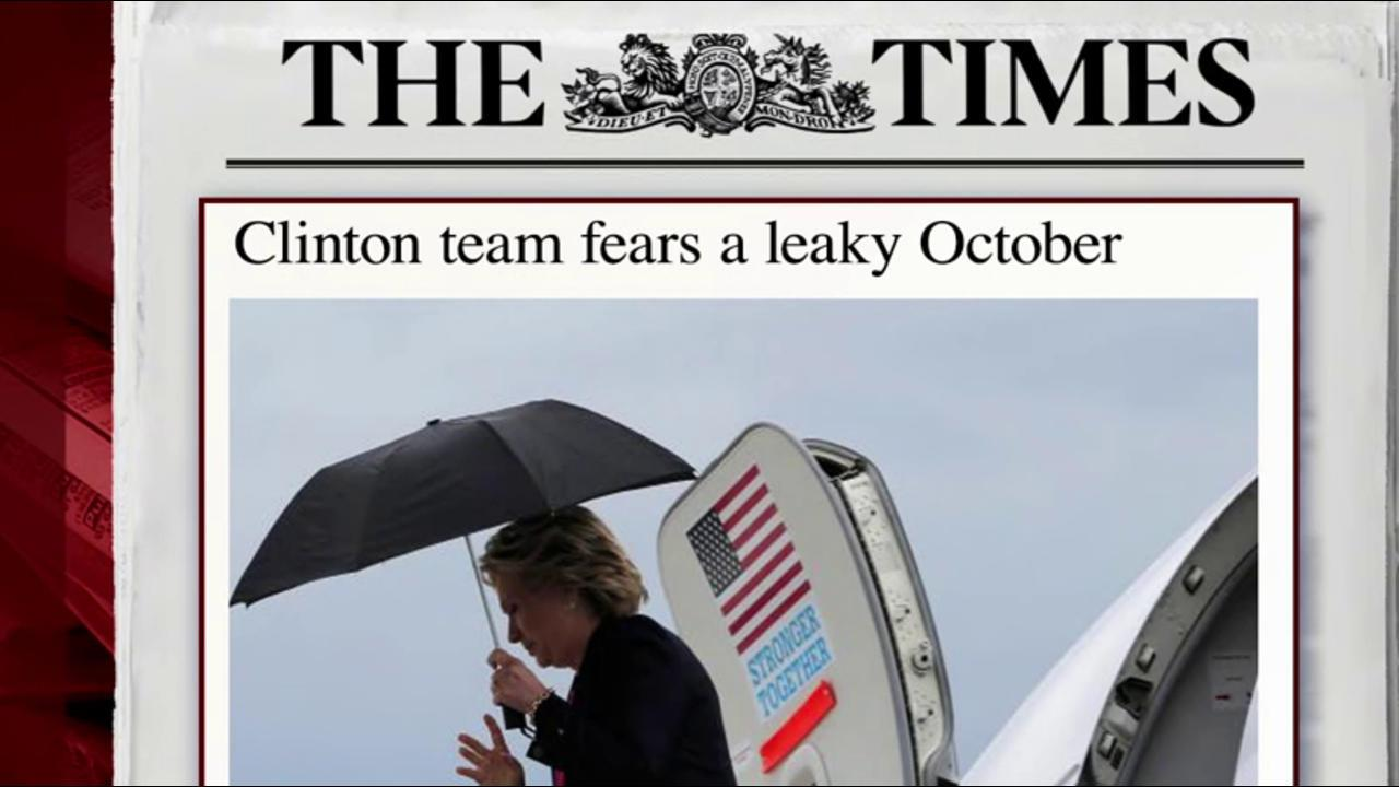 Clinton campaign braces for more leaks