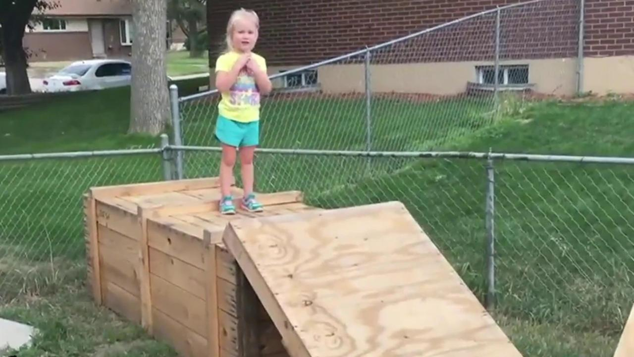 watch littlest u0027ninja warrior u0027 tackle homemade obstacle course