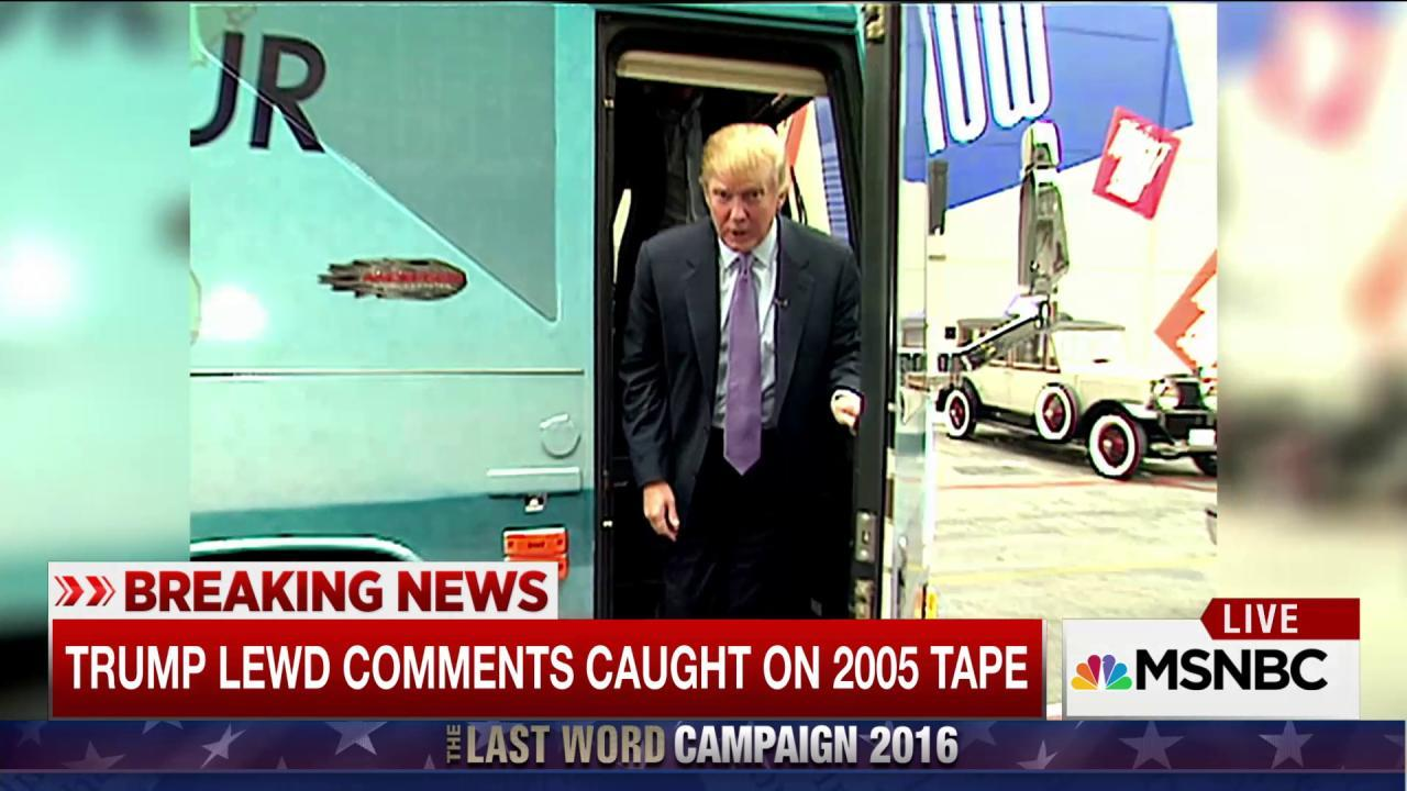 Extremely lewd Trump comments caught on tape