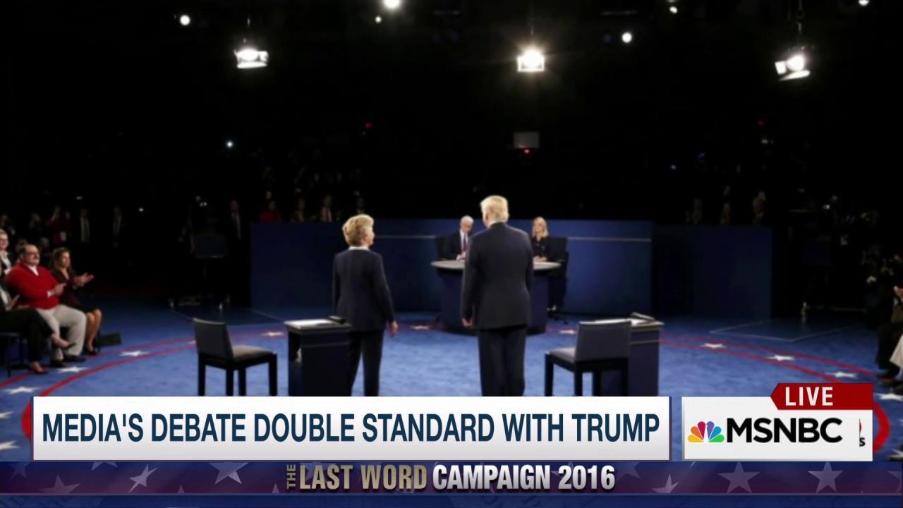 Trump's debate double standard