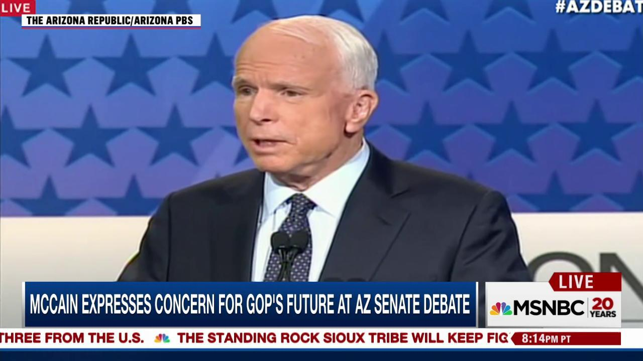 John McCain: I can't vote for Clinton or...