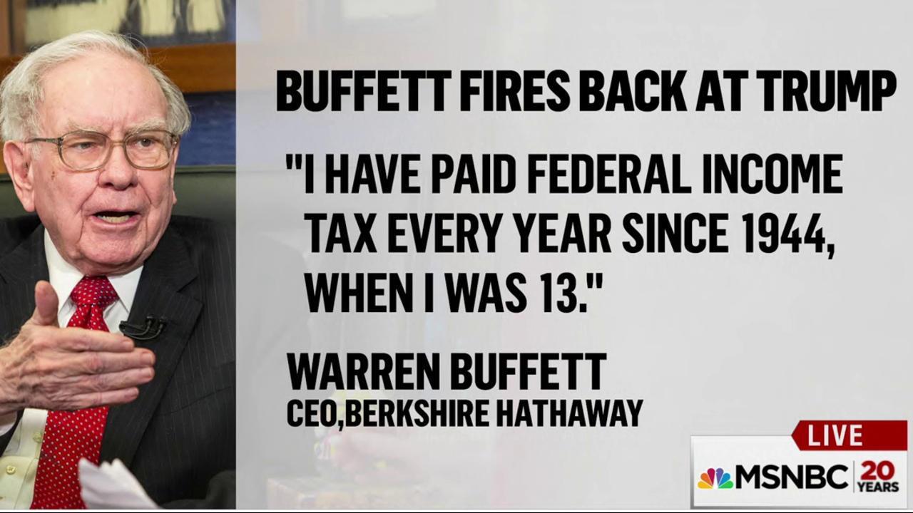 Warren Buffett calls Trump's bluff on taxes