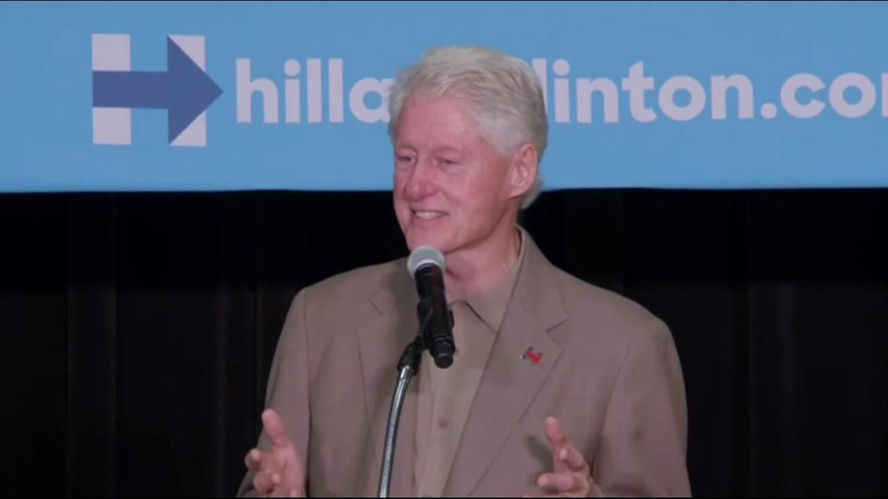 Bill Clinton says Trump base 'rednecks'