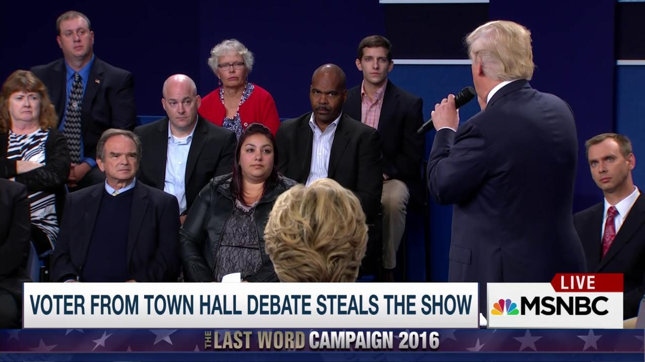 "Man who looked ""done"" with Trump at debate..."