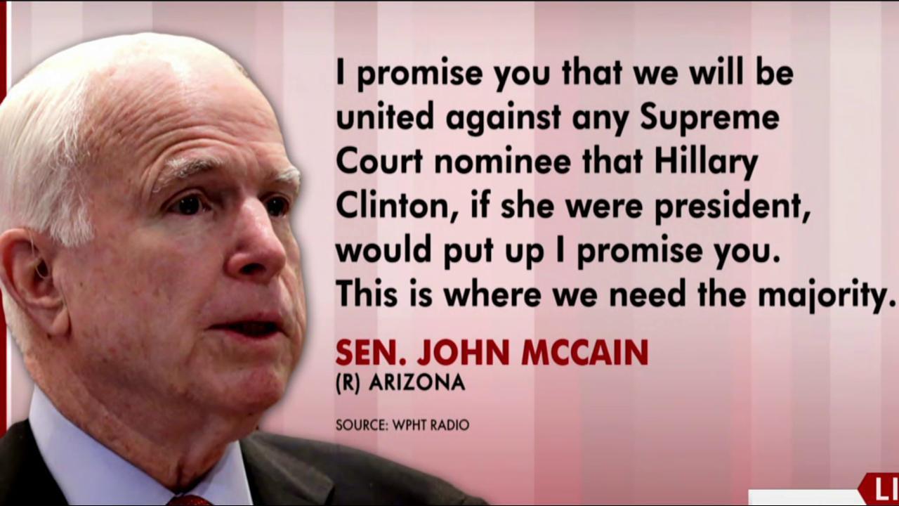 McCain walks back Supreme Court nom talk