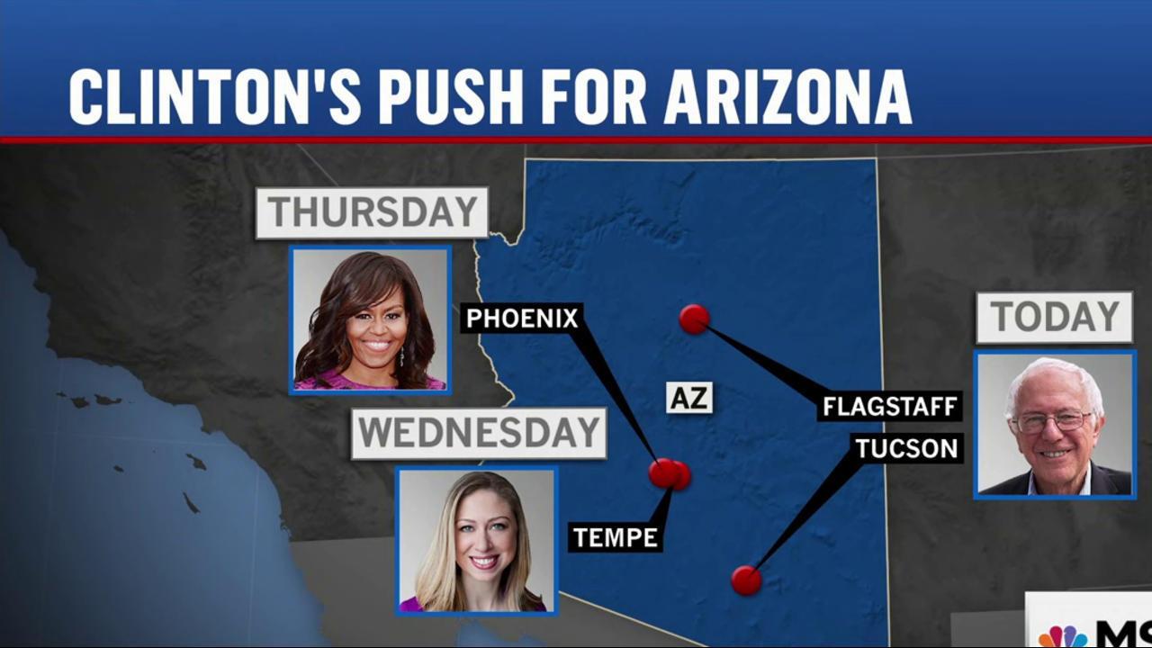 Clinton makes play for AZ