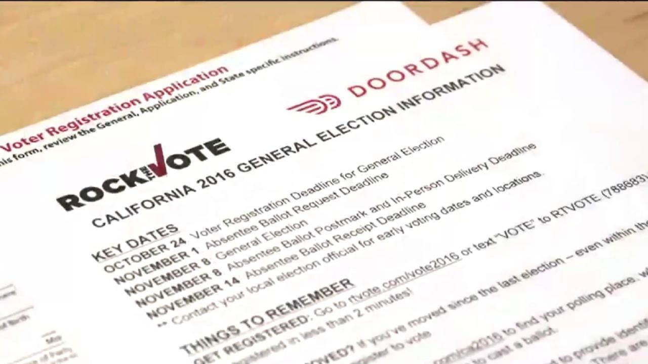 DoorDash makes it easier to register to vote