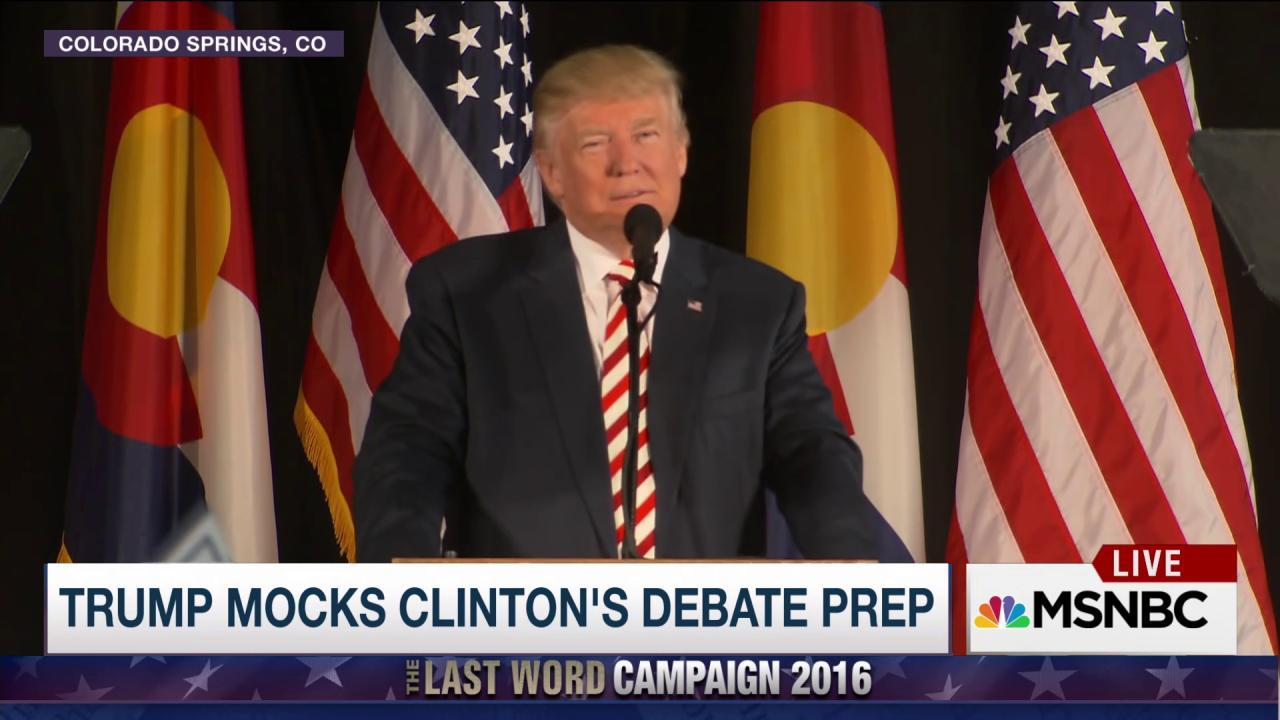 Trump: perfect storm for 3rd debate?