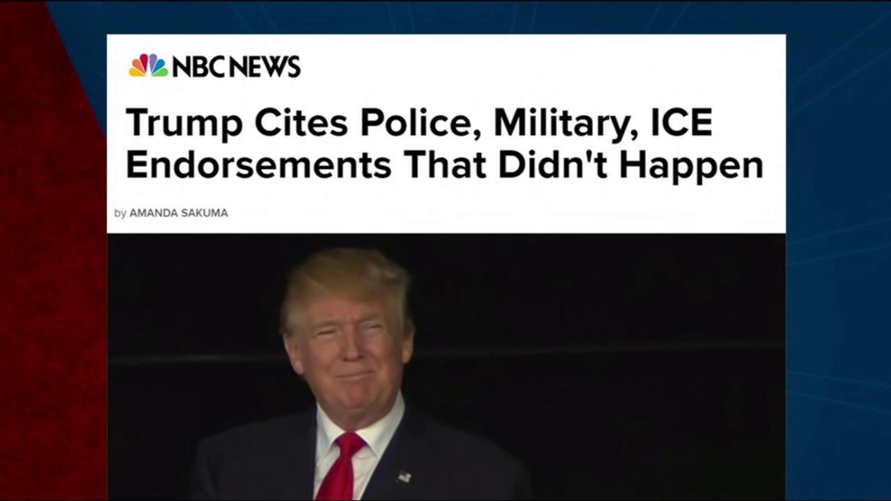 Trump touts endorsements that never happened