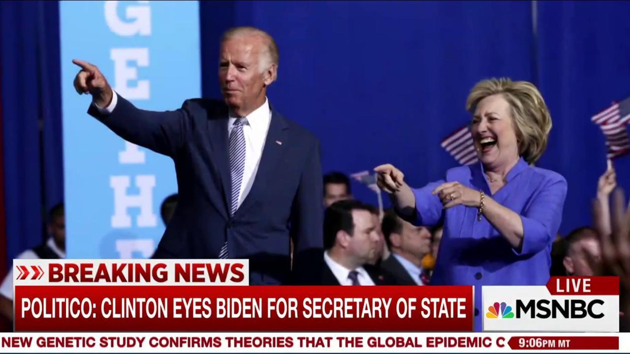 Report: Biden tops Clinton Secy. of State shortlist