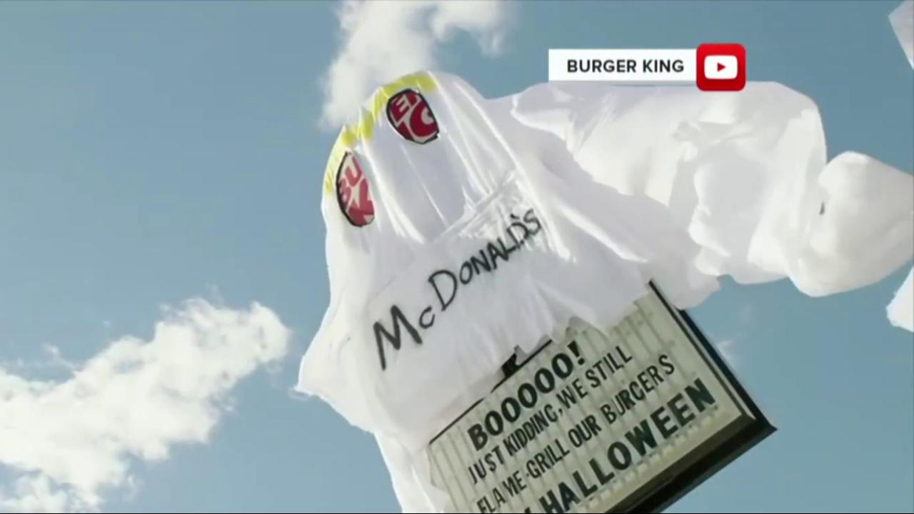 Burger King trolls McDonald\'s with fiery holiday gift