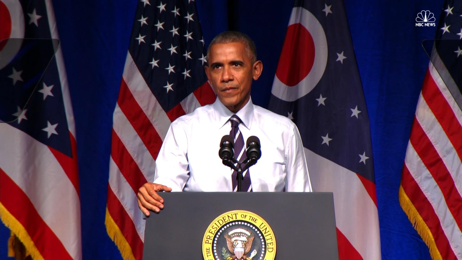 Pres. Obama jokes about age to protester