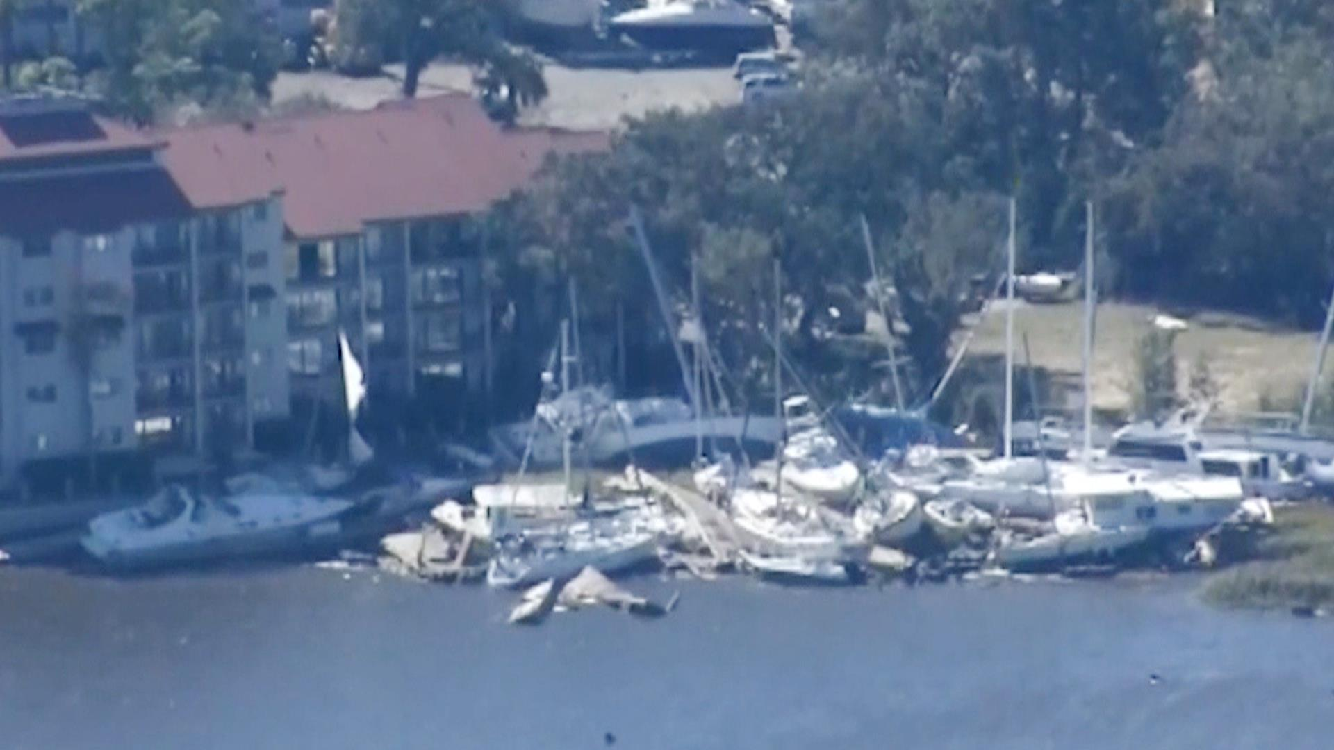 See Storm Damage in Hilton Head From Hurricane Matthew - NBC