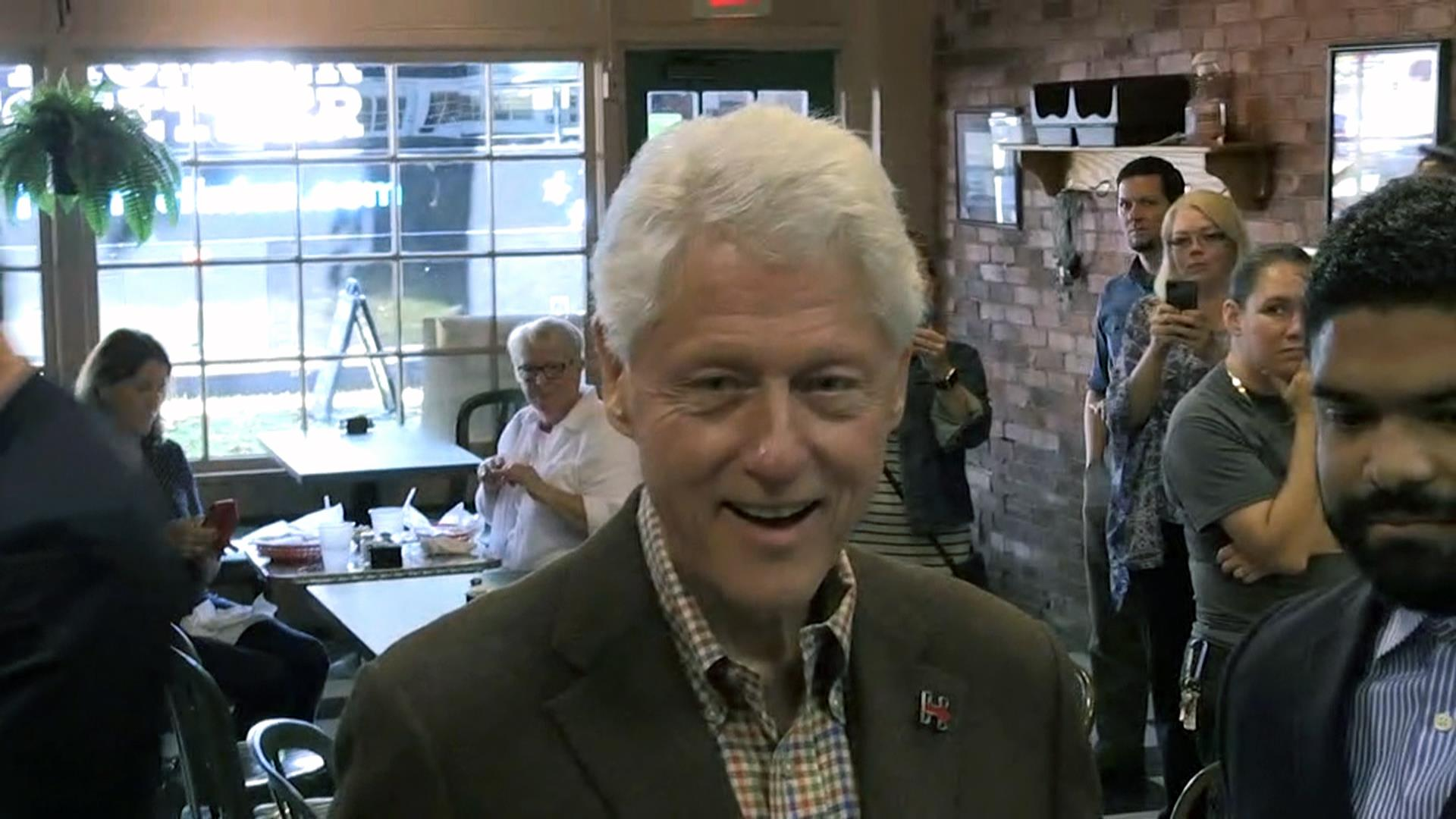 Bill Clinton asked about Trump's personal...