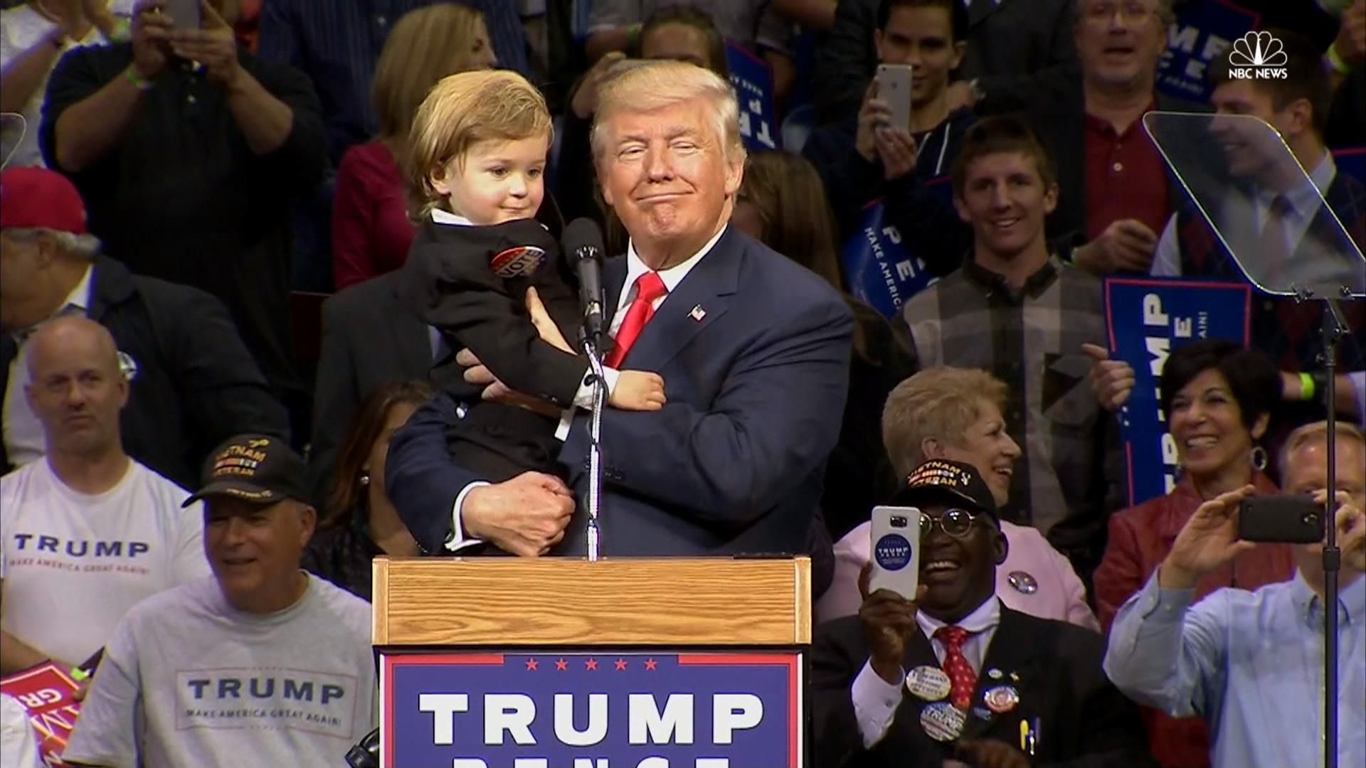 Trump to Baby Look-A-Like: 'You Are Much Too Good Looking ...